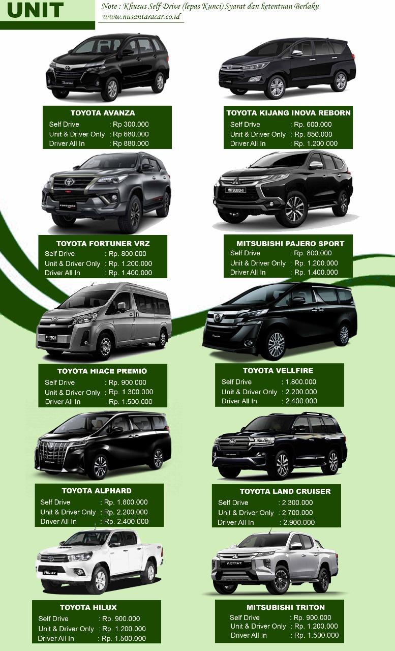 harga rental mobil medan