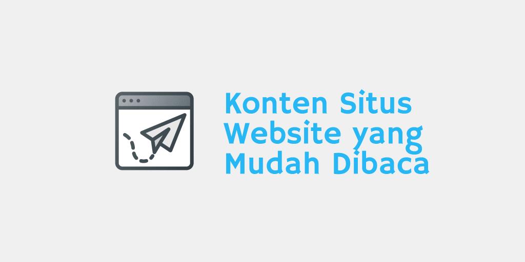 Konten Situs Website yang Mudah Dibaca